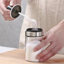 New listing Glass Seasoning Bottle Salt Storage Box Spice Jar With Spoon Kitchen Supplies Us