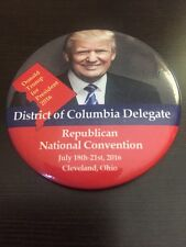 2016 Republican National Convention DC DELEGATE Button Donald Trump & Mike Pence
