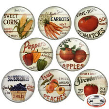"Delicious Veggies & Fruits 1.25"" Pinback Button BADGE SET #2 Novelty Pins 32 mm"