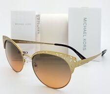 fa5d8bc2312 New Michael Kors sunglasses MK1023 118918 56 Gold Gradient EVY Cat Eye  Butterfly