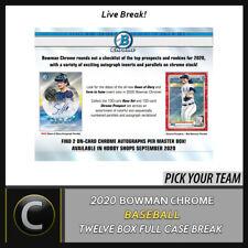 2020 Caja de béisbol 12 BOWMAN CHROME (Completo Funda) romper #A939 - Elige Tu Equipo