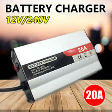 12V Battery Charger Inverter 20 Amp Car ATV 4WD Boat Caravan Motorcycle New