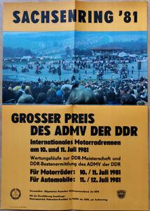 SACHSENRING 1981 - MOTOR RACING * EAST GERMAN POSTER
