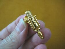 (M-5-A) RCA 77D/DX Microphone Mic gold plt tac pin JEWELRY 1930's classic brooch