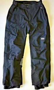 OBERMEYER GORE-TEX Men's Large Black Ski SHELL Pants Full Zip Side Seams READ