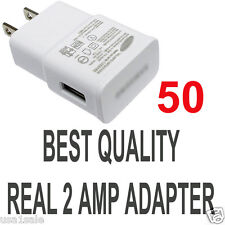 LOT 50 x2A AC Wall Power Charger Adapter for Samsung Galaxy S5 S4 S3 S2 Note II