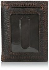 Ariat Bi-Fold Money Clip Leather Western Men's Wallet-Brown A35124282