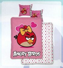 Angry Birds Rosa Funda nórdica y funda de almohada Set-Pretty BIRD Chicas
