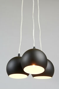 Hängeleuchte Trias schwarz matt mehrflammig Pendelleuchte Hängelampe Deckenlampe