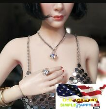"1/6 scale diamond ring and necklace set for 12"" figure phicen hot toys ❶USA❶"