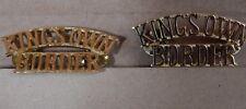2x Kings own Border Regiment Shoulder Title Badges Staybrite Anodised 1980's