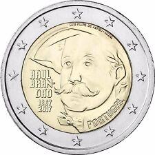 Portugal 2 Euro Münze Raul Brandao 2017 Geburtstags Gedenkmünze bankfrisch