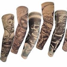 High Quality 6pcs Fake Temporary Tattoo Sleeve Arm Stockings Tatoo For Men Women