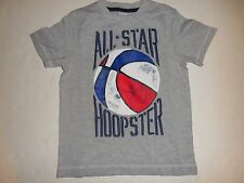 """GYMBOREE Boys Star Spangled Summer """"ALL-STAR HOOPSTER"""" Gray Shirt Size 5 Cotton"""