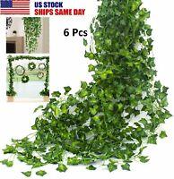 6x Artificial Ivy Leaf Plant Fake Hanging Garland Vine Foliage Garden Home Decor