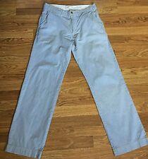 Mens American Eagle Pants Blue & White Pin Stripe Chino Khaki Size 32x34