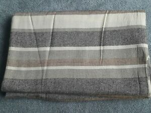 Vintage Retro 1980s Military Single Bedspread / Bed cover - Striped 152 x 205cm