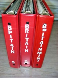 GREAT BRITAIN, Amazing assortment of mostly MINT(much NH) Stamps in 3 books