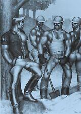 Tom of Finland Kunstdruck Poster Comic Art 31x43 Untitled Male Workers 1988 B&W
