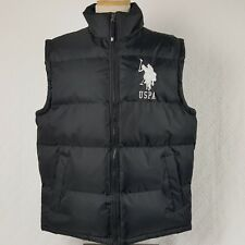 US Polo Assn Mens Puffer Vest USPA Big Large Polo Pony Ponies Black Size Medium