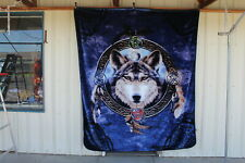 CELTIC WOLF GUIDE QUEEN SIZE BLANKET