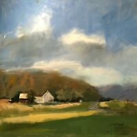 CAROLE McDERMOTT IMPRESSIONIST MODERNIST CONTEMPORARY LANDSCAPE STUDY PAINTING