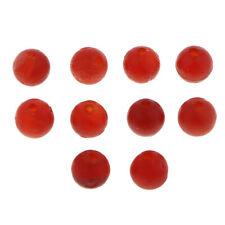 10Pcs Fire Agate Faceted Round Beads Gemstone Semi Precious Stone 8mm