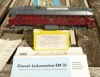 Gützold EM 21 Diesellok BR 120 245-6 Taigatrommel sehr gut mit Licht DR Epoche 4