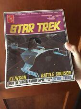 AMT Star Trek Klingon Battle Cruiser tall box sealed