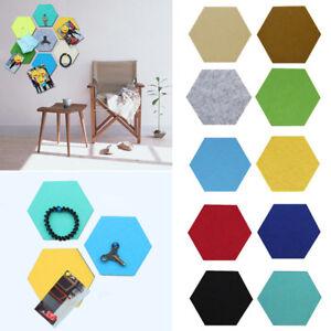 DIY Hexagon Felt Board 3D Decorative Sticker Self-Adhesive Felt Wall Sticker