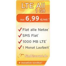 SimDiscount LTE All 1 GB, nur 6,99 € / Monat