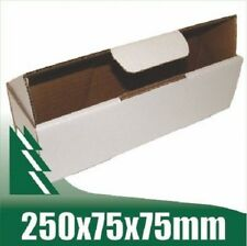 20 x Bottle Boxes 250x75x75mm White Cardboard Packaging Carton Mailing Box