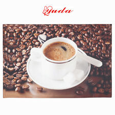 6PCs Placemat Printed Coffee Placemats 33 x 48 cm Table Mats Dining Pads Mat