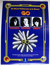GO s/t Yamashta Winwood Shrieve 1976 US Island Records Promo POSTER Jazz PROG
