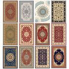 Traditional Oriental Area Rug Carpet Crystal Velvet Medallion Persien Mat Runner