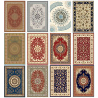 Traditional Oriental Area Rug Carpet Crystal Velvet Medallion Persien Mat Runner