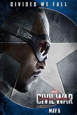 Captain America Civil War Movie Poster (24x36) - Anthony Mackie, Falcon v6