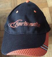 Baseball Cap Hat Fuerteventura Front Logo Black Sticky Fasten One Size Fits All