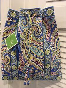 NEW Vera Bradley CAPRI BLUE  BACKSACK Backpack Tote Purse Bookbag Retired NWT