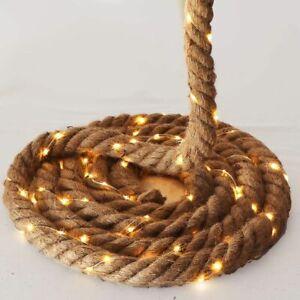 Seil-Girlande 5 m 4cm stark Seil/Tau mit Lichterkette 150 LED