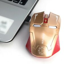 New Iron Man Mouse Wireless Mouse Gaming Mouse gamer Mute Button Silent Click...