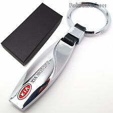 KIa chrome metal key ring with gift box
