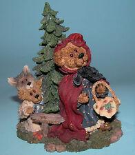 """Boyds Bears #2452 """"Lil' Red w Bb Woof """" figurine Nib 2000, Nursery rhyme wolf"""