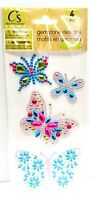 Gemstone BUTTERFLY Insect Stickers - Crafter's Square 3D Scrapbook Craft