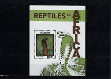 Uganda 2013 MNH Reptiles of Africa 1v S/S Snakes Cape Cobra Naja Nivea