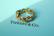 Tiffany & Co. 18kt Yellow Gold & Diamond Flexible Link Ring - Rare Example
