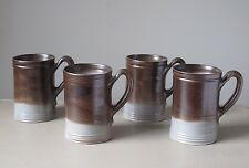 Williamsburg Restoration Art Pottery Tankard Mugs, Set of (4), Original Box