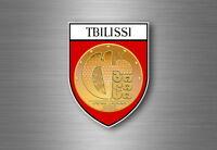 sticker adesivi adesivo stemma etichetta bandiera auto tbilisi georgia