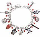 Horror Movie Characters Chucky, Saw, It 11 Themed Enamel/Metal Charm Bracelet