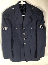 VTG 1951 USAF BARRICO CORPCOAT WOOL BLUE Coat Size 34 Small